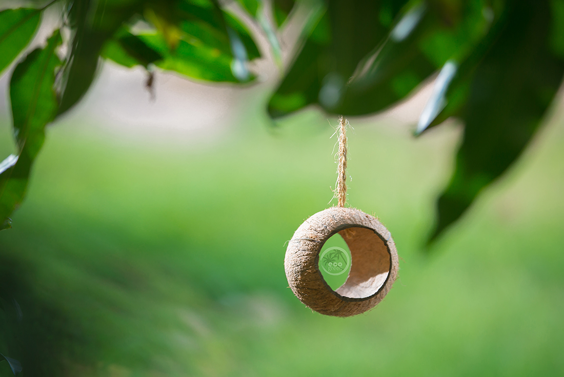 Tube cocos bird feeder